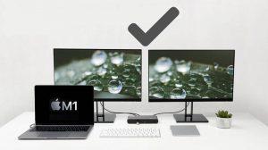 Cómo conectar dos o más pantallas externas a Apple Silicon M1 Mac