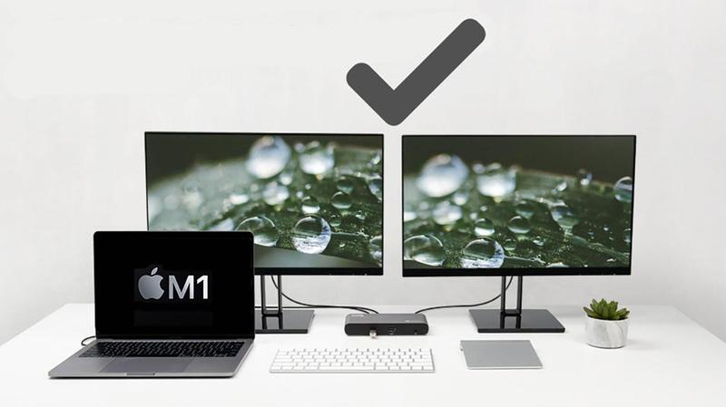 m1 macbook dos pantallas externas