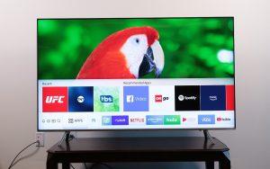 Conecte Samsung TV a Alexa - pantalla de inicio de Samsung Smart TV