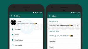Cómo configurar el estado del texto en WhatsApp [Android Guide]