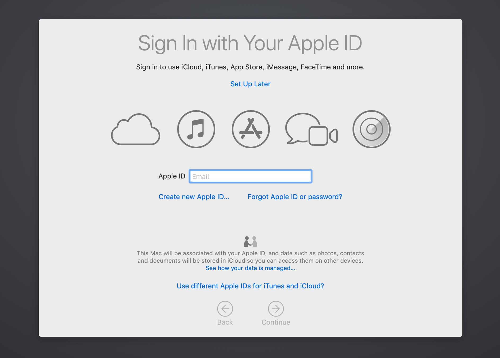configurar una nueva mac