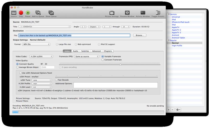 Cómo copiar un DVD o Blu-ray Disc a Mac: HandBrake