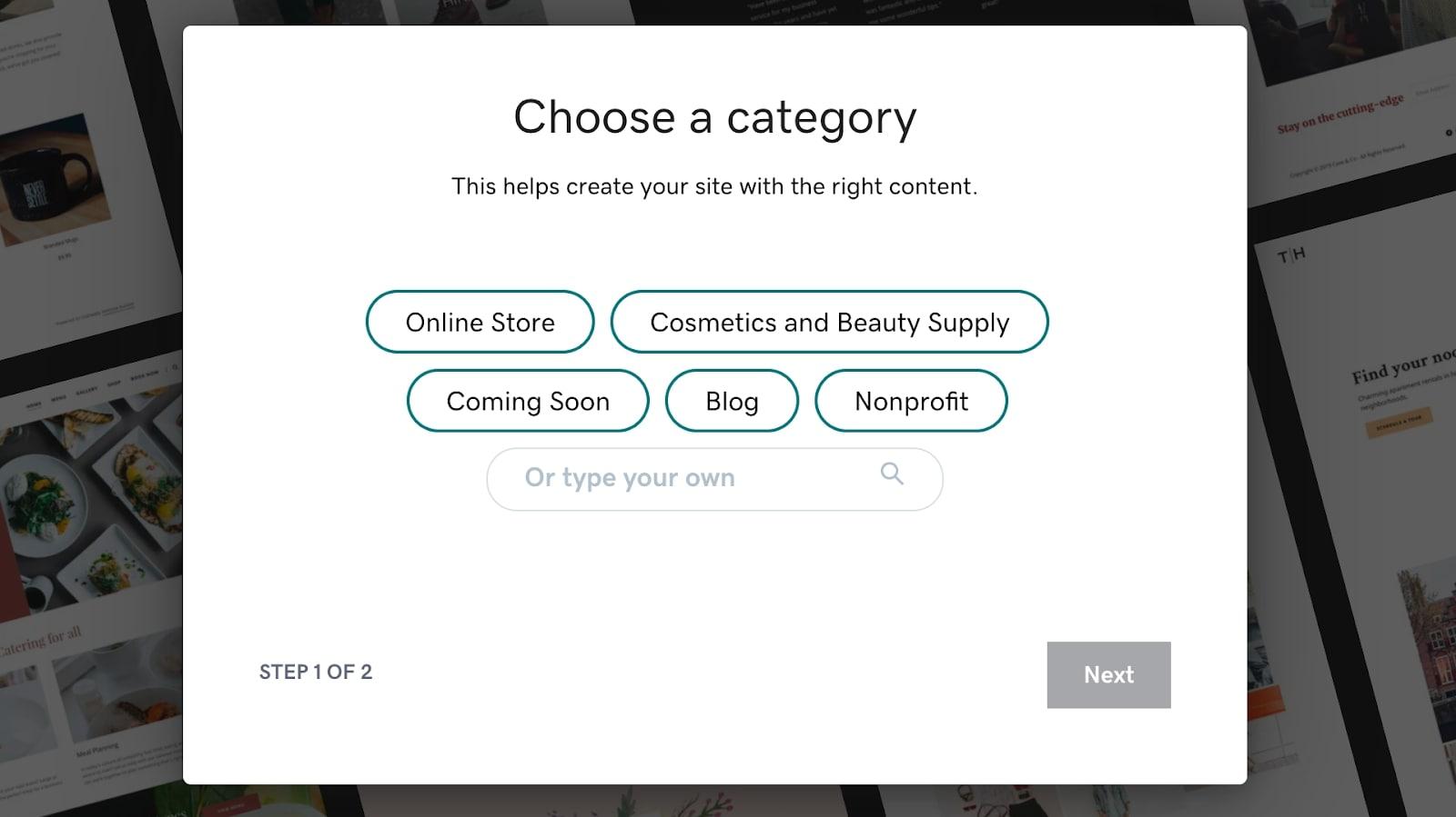 construir un sitio web
