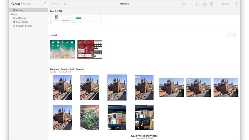 cómo descargar fotos icloud mac 1600