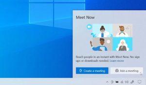 Cómo deshabilitar el icono Reunirse ahora de la barra de tareas en Windows 10