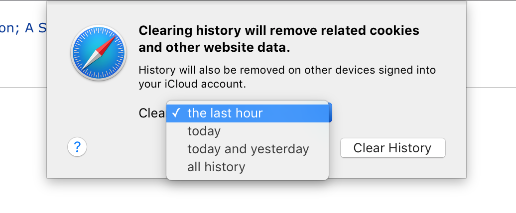 Cómo eliminar el historial de navegación web en Mac: Safari