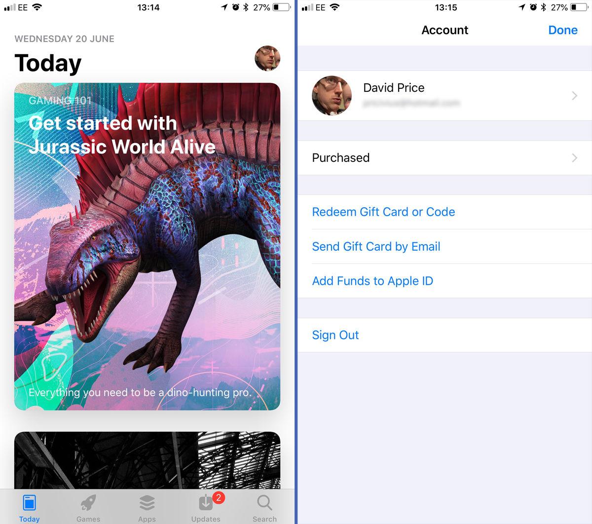 Cómo eliminar una ID de Apple de su iPhone: App Store