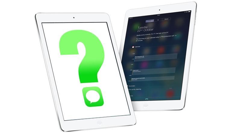 Mensajes de iPad Air 800b