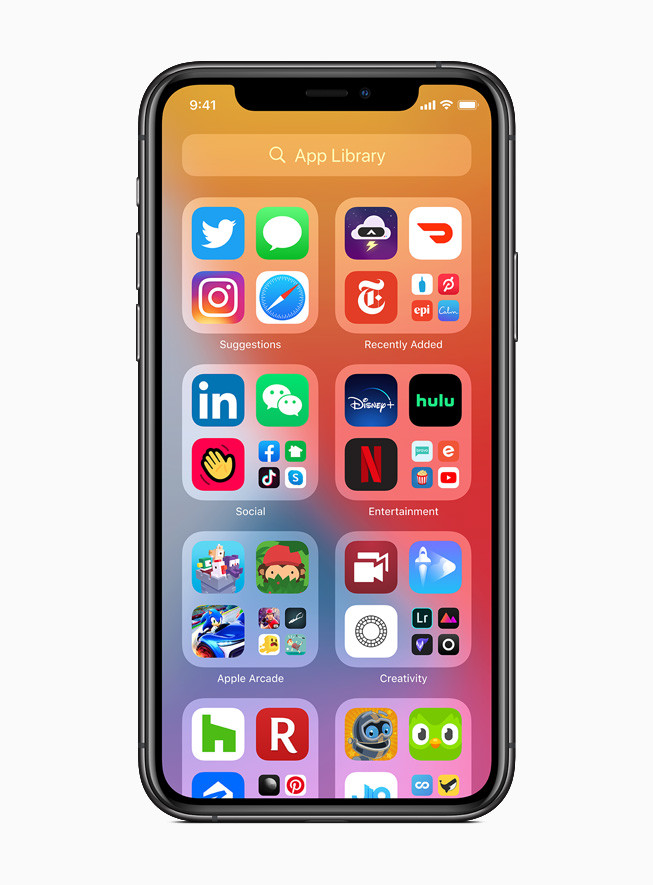 Biblioteca de aplicaciones iOS-14