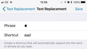 Cómo escribir el logotipo de Apple () en iPhone o iPad