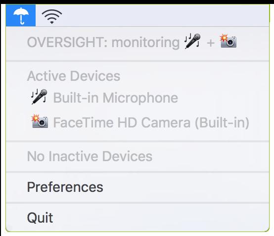 Preferencias de OverSight