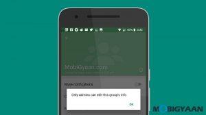 Cómo evitar que los miembros del grupo cambien la información del grupo de WhatsApp [Android Guide]