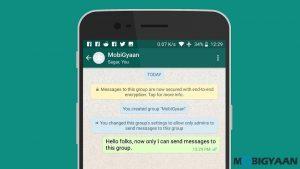 Cómo evitar que los miembros envíen mensajes en el grupo de WhatsApp [Android Guide]