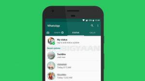 WhatsApp ya no puede ordenar las actualizaciones de estado en orden cronológico inverso