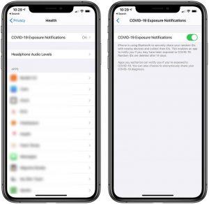 Cómo habilitar / deshabilitar la notificación de exposición para COVID-19 en iPhone