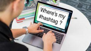 Cómo hacer un hashtag en Mac