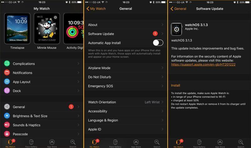 Cómo actualizar watchOS en Apple Watch: aplicación Watch