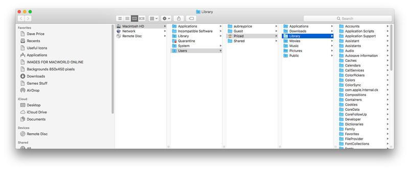 Cómo mostrar archivos ocultos en una Mac: carpeta Biblioteca