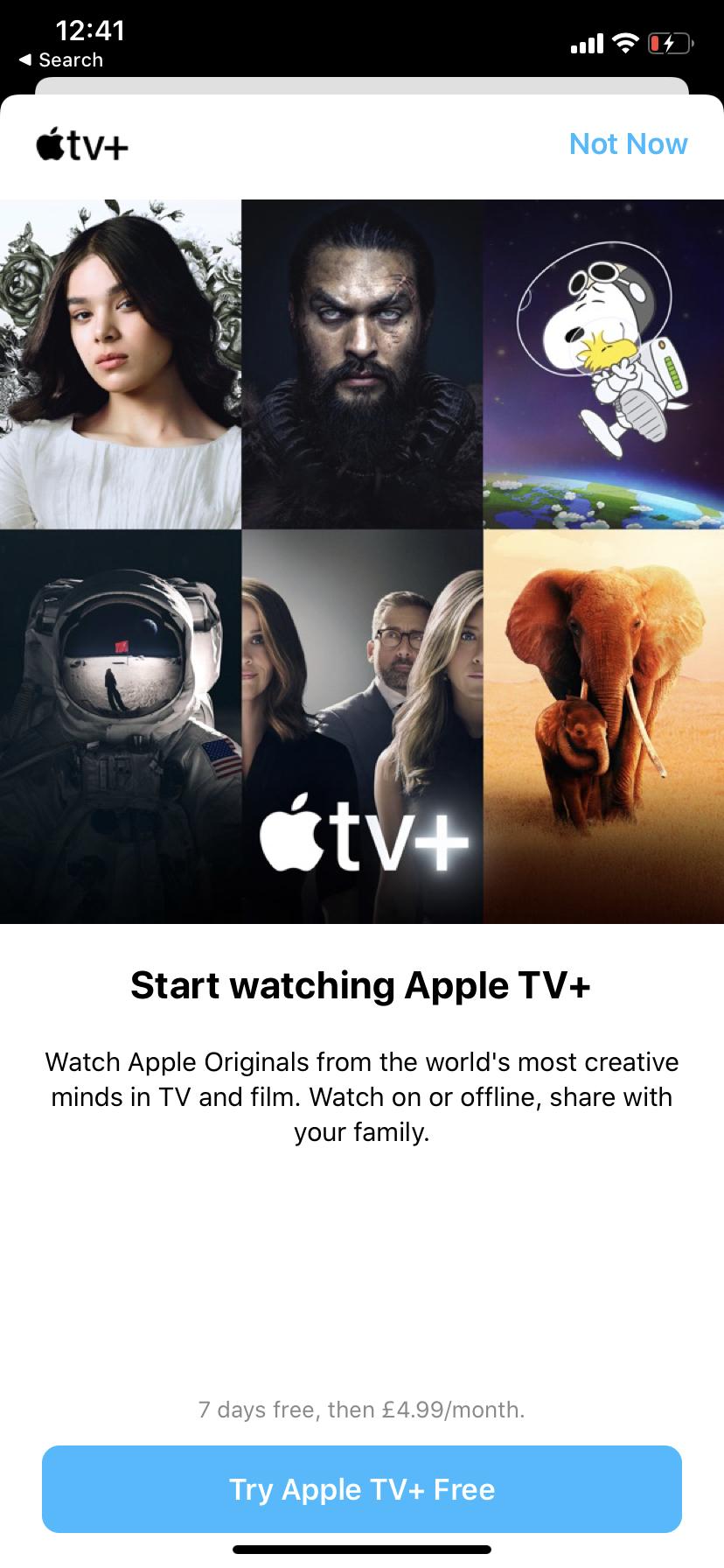 Apple TV + de prueba de 7 días