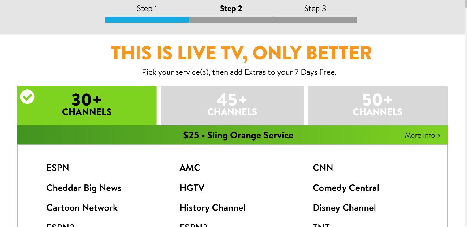 Prueba gratuita de Sling TV: seleccione un paquete