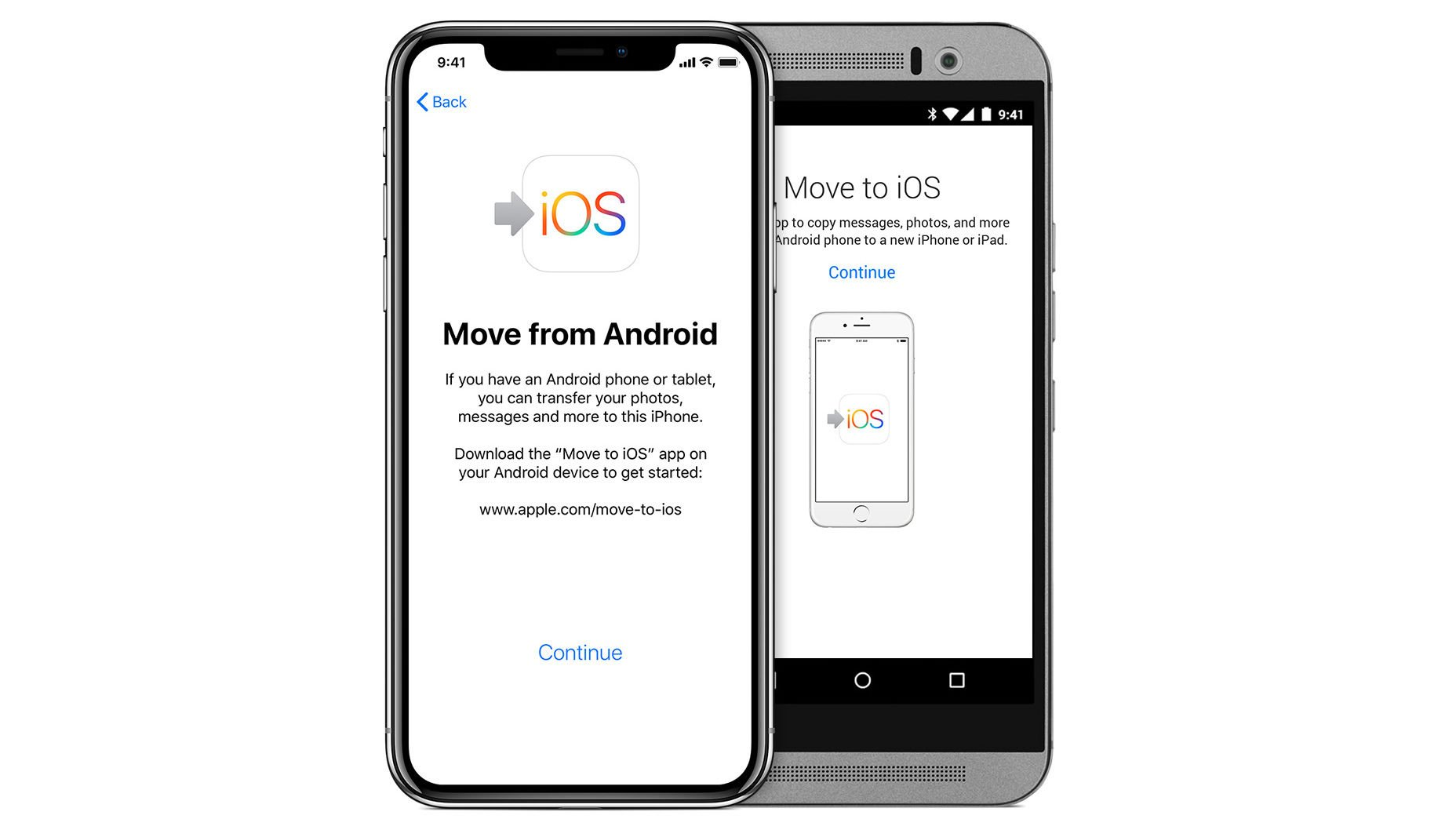 Cómo pasar de Android a iPhone