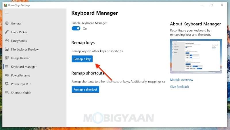Cómo reconfigurar el teclado mediante la reasignación de teclas en Windows 10-1