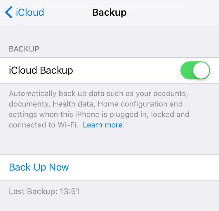 Cómo restablecer de fábrica un iPhone o iPad: copia de seguridad