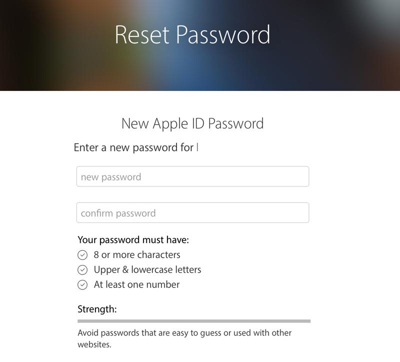 Cómo restablecer la contraseña de ID de Apple olvidada: Restablecer contraseña