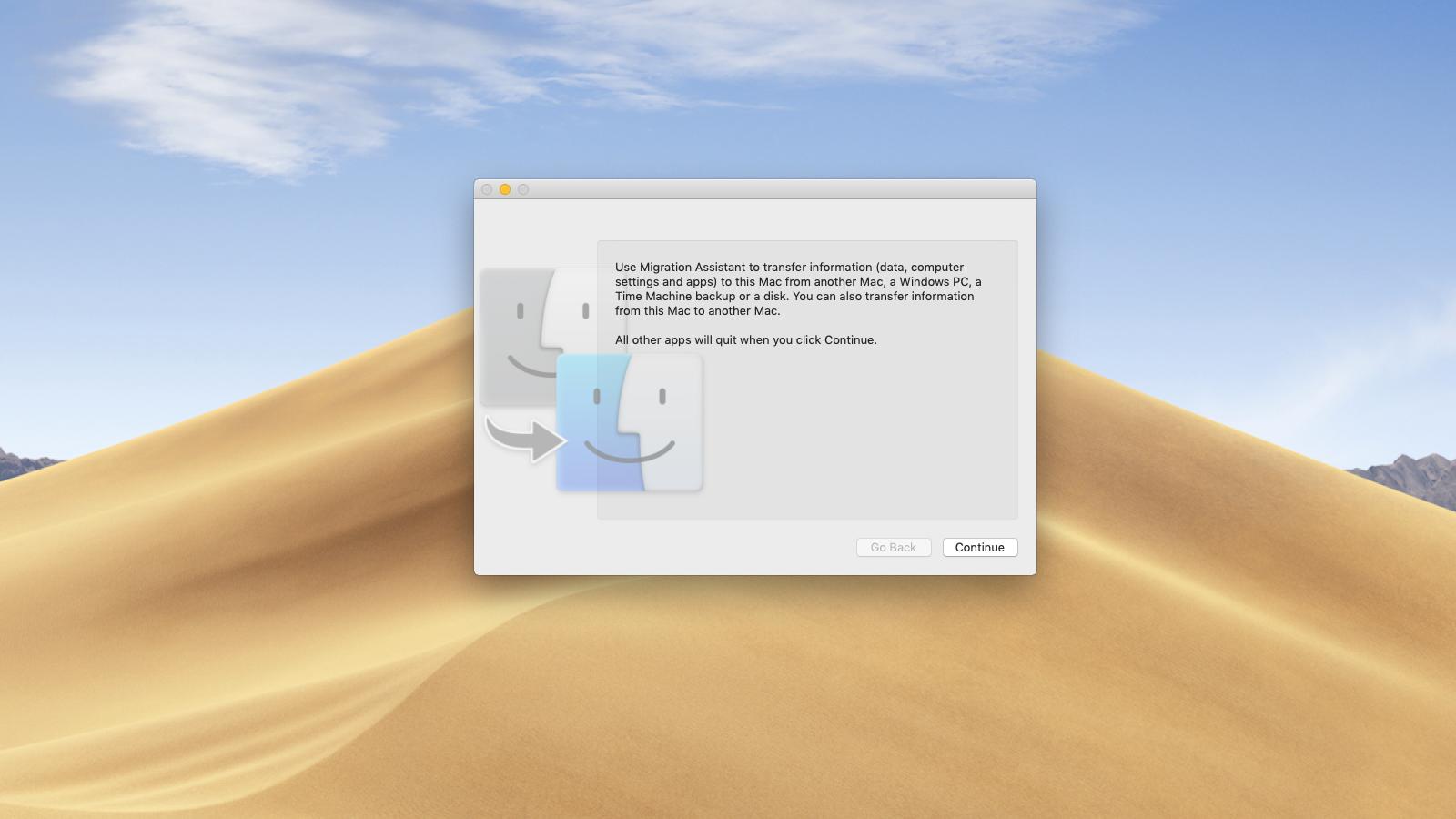 Utilice el Asistente de migración para copiar la copia de seguridad de Time Machine