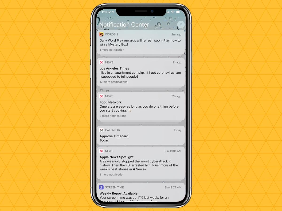 cómo silenciar las notificaciones en tu iphone en el centro de notificaciones