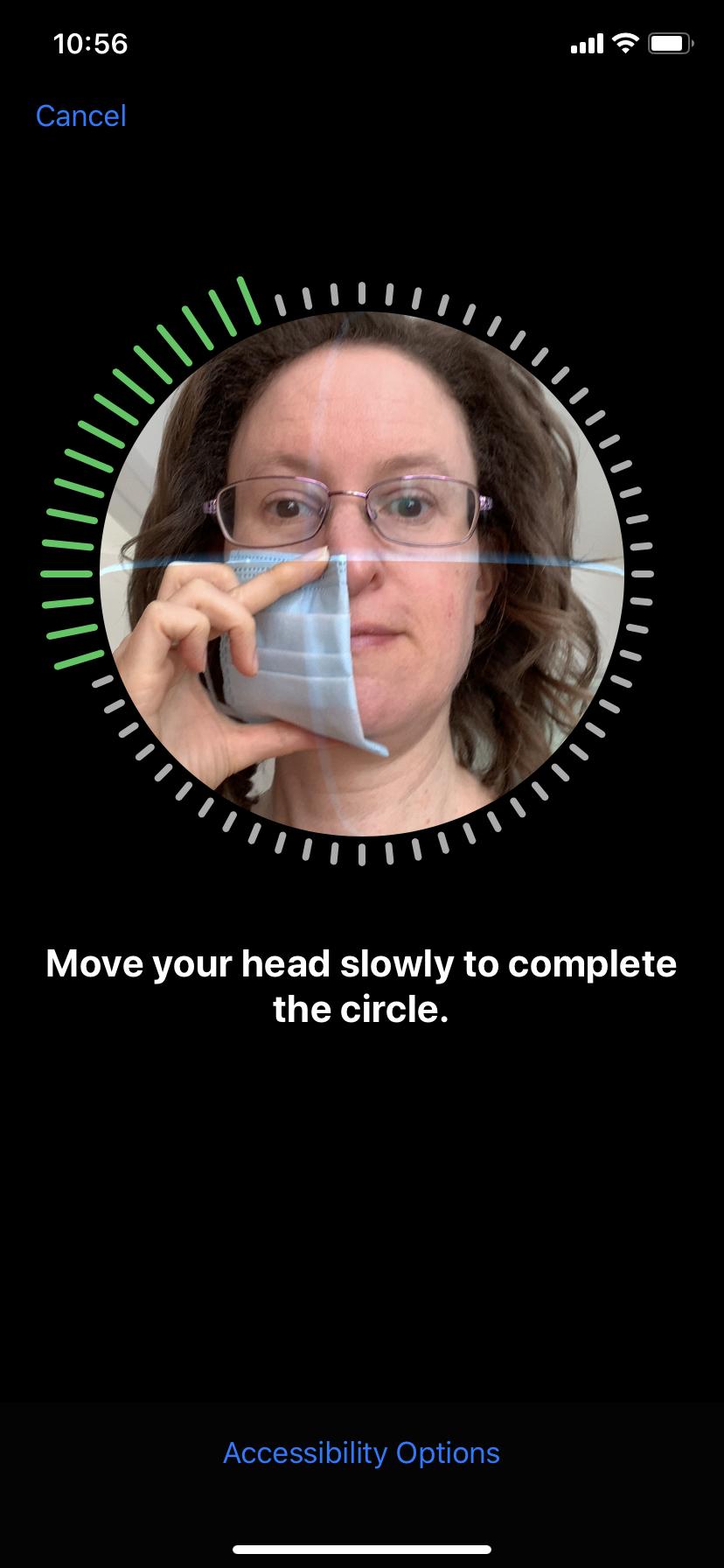Escanear rostro con mascarilla