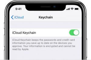 Cómo usar el llavero de iCloud para administrar contraseñas