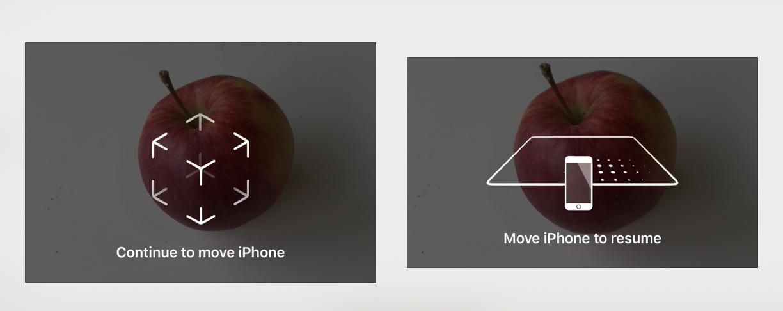 Medir - orientar el iPhone