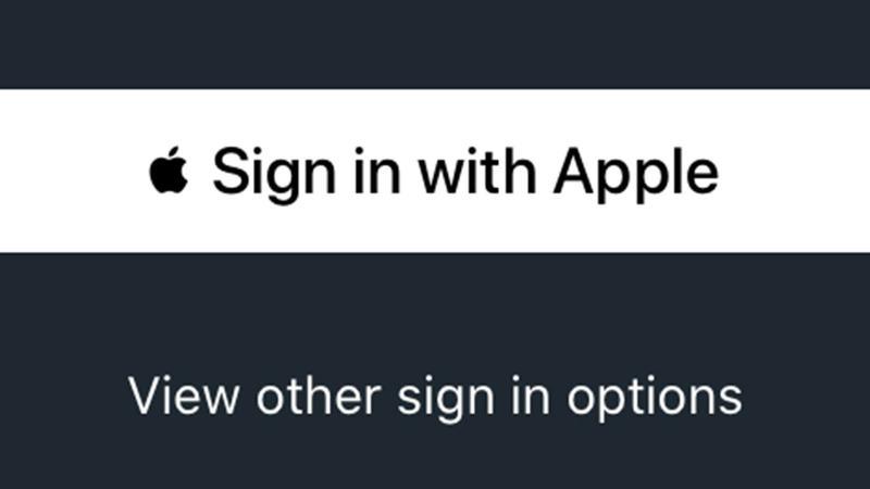 cómo usar iniciar sesión con apple