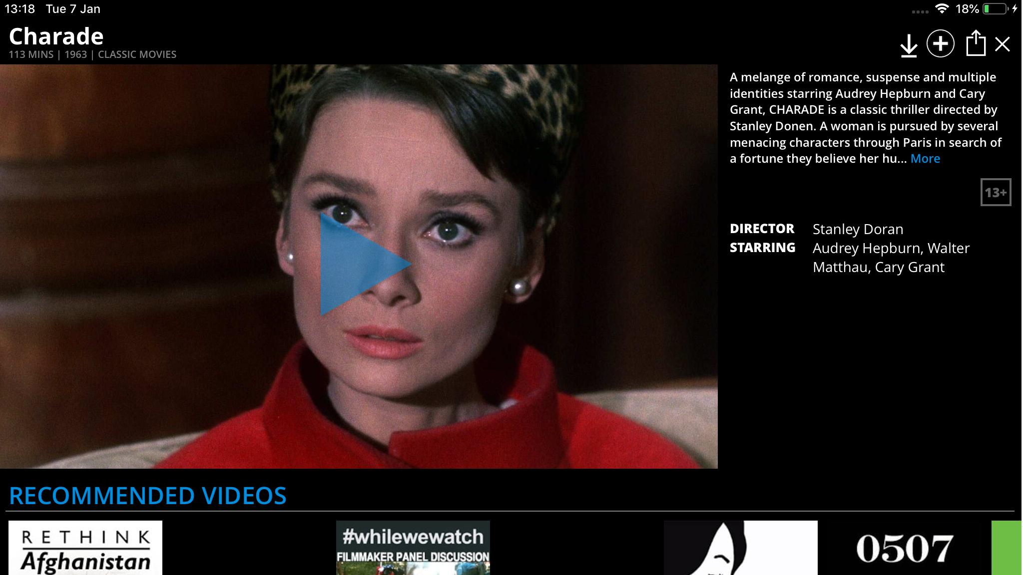 Cómo ver películas gratis en iPad y iPhone: Snagfilms