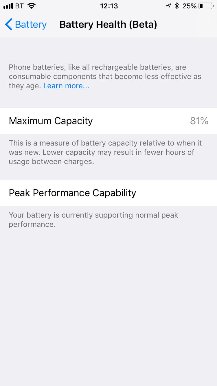 Cómo saber la duración de la batería del iPhone
