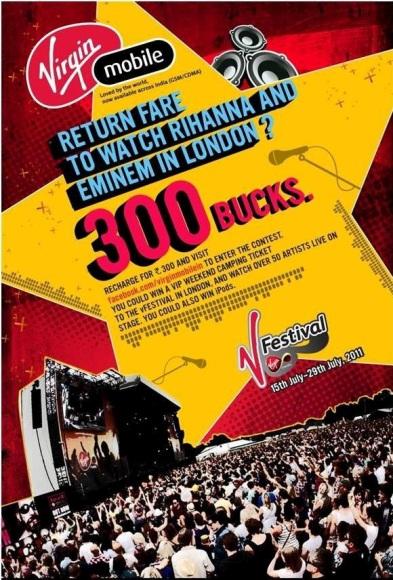 Concurso Virgin V Festival, gana Pases VIP para el V Festival en Inglaterra