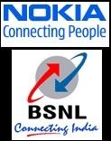 Connecting India (BSNL) se asocia con Connecting People (Nokia) para los servicios 3G.