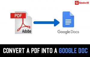 Cómo convertir un PDF en un documento de Google (en funcionamiento)