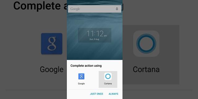 Cortana para reemplazar Google Now en Android