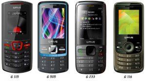 Cuatro nuevos teléfonos multimedia lanzados por G'FIVE