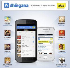 Dhingana ofrecerá descargas de música ilimitadas sin cargos por datos a los suscriptores de Idea