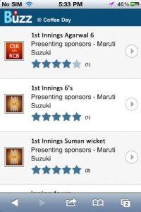 Disfrute de la temporada de IPL en su dispositivo móvil de forma gratuita en ubicaciones seleccionadas de 'Buzz' cerca de usted
