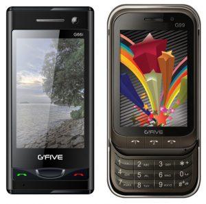 Dos nuevos teléfonos con funciones lanzados por G'Five llamados G66i y G99