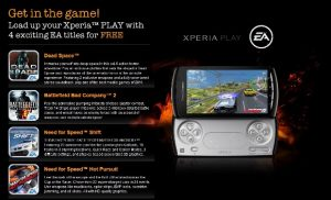 EA regala 4 títulos gratis para Xperia Play