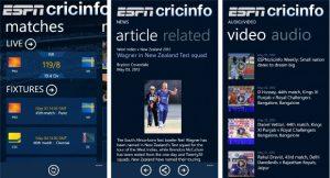 ESPNcricinfo ahora disponible en Windows Phone