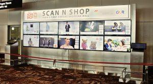 El Virtual Shopping Wall de HomeShop18 le permite comprar sobre la marcha desde la T3 del aeropuerto IGI