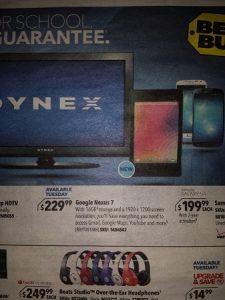 El anuncio filtrado revela la fecha de lanzamiento del Nexus 7 el 30 de julio junto con un precio de $ 229
