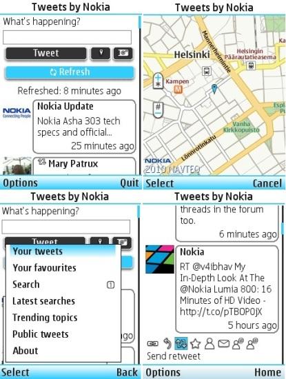 El cliente oficial de Twitter para dispositivos S40 ya está disponible