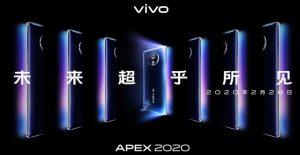 El concepto de smartphone Vivo APEX 2020 llegará el 28 de febrero